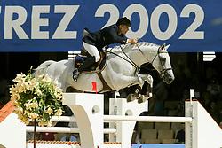 Eriksson Peter, SWE, VDL Cardento<br /> Round 1<br /> World Equestrian Games Jerez de la Fronteira 2002<br /> Photo © Hippo Foto - Dirk Caremans