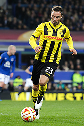 Scott Sutter of BSC Young Boys  - Photo mandatory by-line: Matt McNulty/JMP - Mobile: 07966 386802 - 26/02/2015 - SPORT - Football - Liverpool - Goodison Park - Everton v Young Boys - UEFA EUROPA LEAGUE ROUND OF 32 SECOND LEG