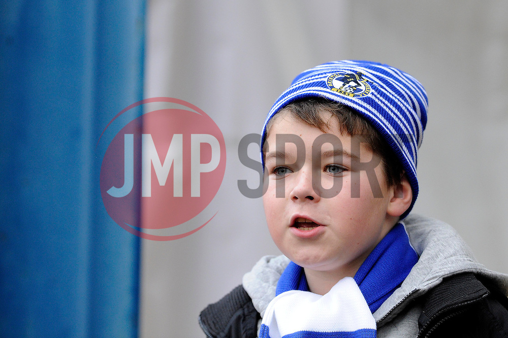 Quid a Kid - Photo mandatory by-line: Dougie Allward/JMP - Tel: Mobile: 07966 386802 07/12/2013 - SPORT - Football - Bristol - Memorial Stadium - Bristol Rovers v Crawley Town - FA Cup - Second Round