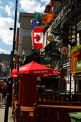 Cafes and bars along Crescent Street, downtown, Montreal, Quebec, Canada