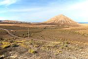 Sacred mountain Montana de Tindaya, Fuerteventura, Canary Islands, Spain