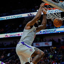 Jan 28, 2018; New Orleans, LA, USA; LA Clippers center DeAndre Jordan (6) dunks against the New Orleans Pelicans during the second quarter at the Smoothie King Center. Mandatory Credit: Derick E. Hingle-USA TODAY Sports