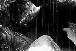 Melting Ice cave from the glacier, Vatnajokull Iceland - Bráðnun í íshellum í Breiðamerkurjökli