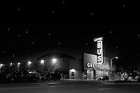 Greyhound Bus Terminal on San Pablo Avenue, on slow Sunday night in Oakland, CA.  Copyright 2010 Reid McNally.