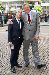 © Licensed to London News Pictures. 07/06/2017.  London, UK. BEN ELTON and STEPHEN FRY attends the Memorial Service of RONNIE CORBETT at Westminster Abbey. The entertainer, comedian, actor, writer, and broadcaster was best known for his long association with Ronnie Barker in the BBC television comedy sketch show The Two Ronnies. Photo credit: Ray Tang/LNP