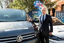 Tobias Frike of Volkswagen car company during presentation of VW Volkswagen as an official mobility partner of Futsal EURO 2018 in Ljubljana, Slovenia, on September 28, 2017. Photo by Vid Ponikvar / Sportida
