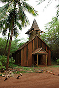 A remote church on the island of Lanai undergoing renovation.