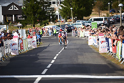 Kasia Niewiadoma (POL) charges for the line at Tour Cycliste Féminin International de l'Ardèche 2018 - Stage 5, a 138.4km road race from Grandrieu to Mont Lozère, France on September 16, 2018. Photo by Sean Robinson/velofocus.com