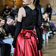 The British luxury Womenswear designer, Chanel Joan Elkayam, showcases her Autumn - Winter 2020 show ahead of London Fashion Week on 13 February 2020 at Cecil Sharp House, London, UK.