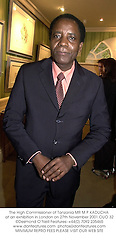 The High Commissioner of Tanzania MR M P KADUCHA at an exhibition in London on 27th November 2001.OUO 32