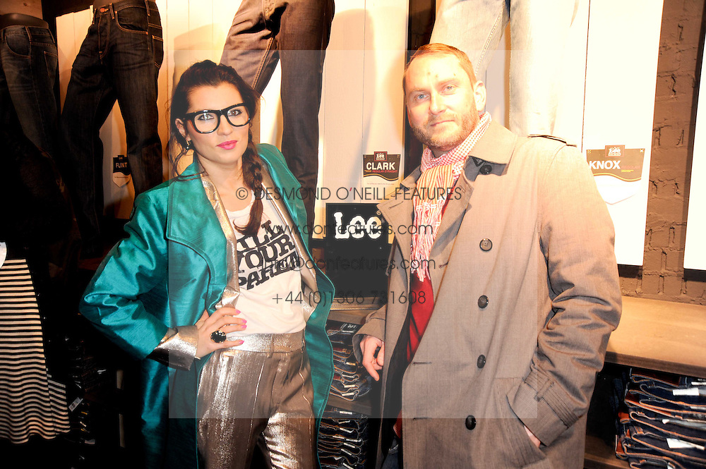 GRACE WOODWARD and RICHARD SORGER at the Lee store re-launch party held at 13-14 Carnaby Street, London on 31st March 2010.