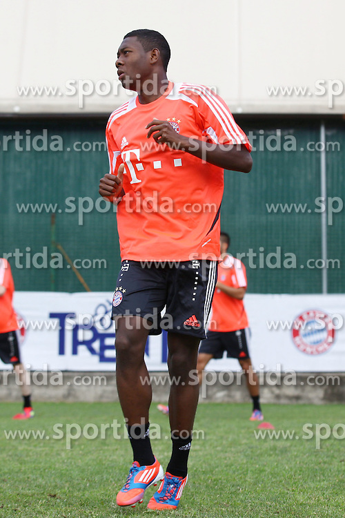 20.07.2012, Stadion, Arco, ITA, FC Bayern Muenchen Trainingslager, im Bild David ALABA (FC Bayern Muenchen), Freisteller, Aktion /Action // during a Trainingssession of the German Bundesliga Club FC Bayern Munich at the Stadium, Arco, Italy on 2012/07/20. EXPA Pictures © 2012, PhotoCredit: EXPA/ Eibner/ Alexander Neis..***** ATTENTION - OUT OF GER *****
