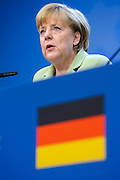 Brussels June 28, 2013<br /> <br /> Final Press Conference at the eu summit in Brussels.<br /> <br /> Pix : Angela Merkel. <br /> <br /> Credit : Denis Closon/ Isopix *** local caption *** 21140009