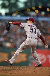 SAN FRANCISCO, CA - JUNE 12:  Chase Anderson #57 of the Arizona Diamondbacks pitches against the San Francisco Giants during the third inning at AT&T Park on June 12, 2015 in San Francisco, California.  The Arizona Diamondbacks defeated the San Francisco Giants 1-0. (Photo by Jason O. Watson/Getty Images) *** Local Caption *** Chase Anderson