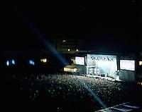 Jugendfest 2012.<br /> Bilder fra Jugendfest 2012 i &Aring;lesund fotografert med storformatskamera og Kodak Portra 4x5&quot; film. Her er det Avicii som st&aring;r p&aring; scenen.<br /> Foto: Svein Ove Ekornesv&aring;g