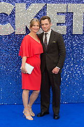 May 20, 2019 - London, England, United Kingdom - (L-R) Christine Egerton and Taron Egerton arrive for the UK film premiere of 'Rocketman' at Odeon Luxe, Leicester Square on 20 May, 2019 in London, England. (Credit Image: © Wiktor Szymanowicz/NurPhoto via ZUMA Press)