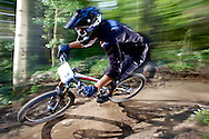 Jeremy Horgan-Kobelski competes in Stage 4 of the Keystone Big Mountain Enduro in Keystone, CO. ©Brett Wilhelm
