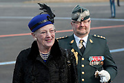 Staatsbezoek Denemarken - Dag 1. Aankomst van het Koninklijk gezelschap op vliegveld Kastrup<br /> <br /> State visit Denmark - Day 1. Arrival of the Royal Family at Kastrup airport<br /> <br /> op de foto / On the photo:  Koningin Margrethe / Queen  Margrethe