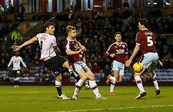 Chris Martin of Derby County fires a shot at goal  - Mandatory byline: Matt McNulty/JMP - 25/01/2016 - FOOTBALL - Turf Moor - Burnley, England - Burnley v Derby County - Sky Bet Championship