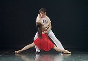 Her Name was Carmen <br /> The St. Petersburg Ballet Theatre at London Coliseum, London, Great Britain <br /> 23rd August 2016 <br /> rehearsal <br /> <br /> <br /> choreography by Olga Kostel <br /> <br /> Irina Kolesnikova<br /> Dmitry Akulinin<br /> <br /> <br /> <br /> <br /> Photograph by Elliott Franks <br /> Image licensed to Elliott Franks Photography Services