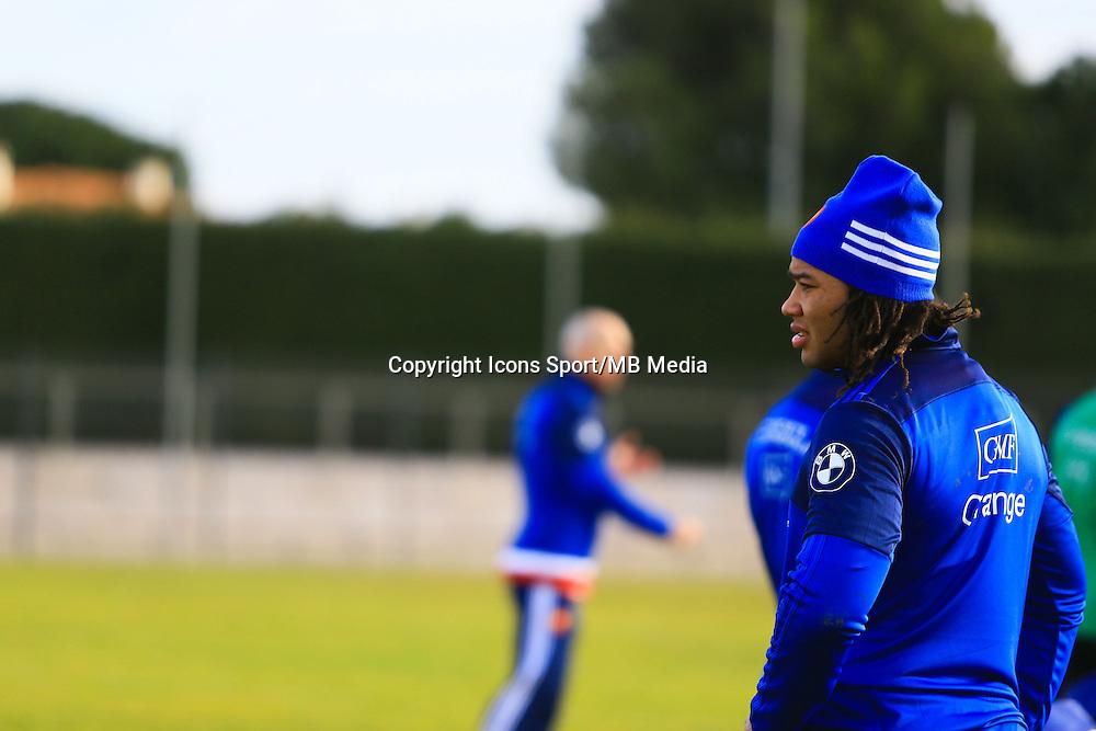 Teddy Thomas - 27.01.2015 - Entrainement Equipe de France - Canet en Roussillon -<br /> Photo : Nicolas Guyonnet / Icon Sport