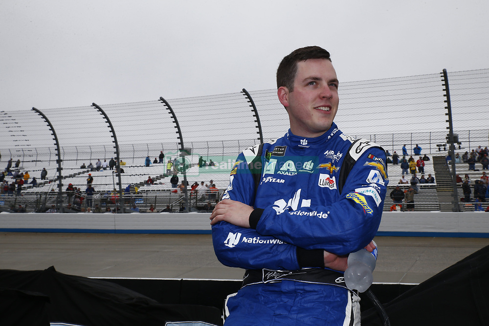 May 6, 2018 - Dover, Delaware, United States of America - Alex Bowman (88) hangs out on pit road while under a red flag due to rain during the AAA 400 Drive for Autism at Dover International Speedway in Dover, Delaware. (Credit Image: © Justin R. Noe Asp Inc/ASP via ZUMA Wire)