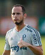 30.04.2018 - SÃO PAULO, SP -  O jogador Guerra durante o treino do Palmeiras no CT da Barra Funda na zona oeste de São Paulo na tarde desta segunda-feira 30 ( Foto: MARCELO D.SANTS / FRAMEPHOTO )