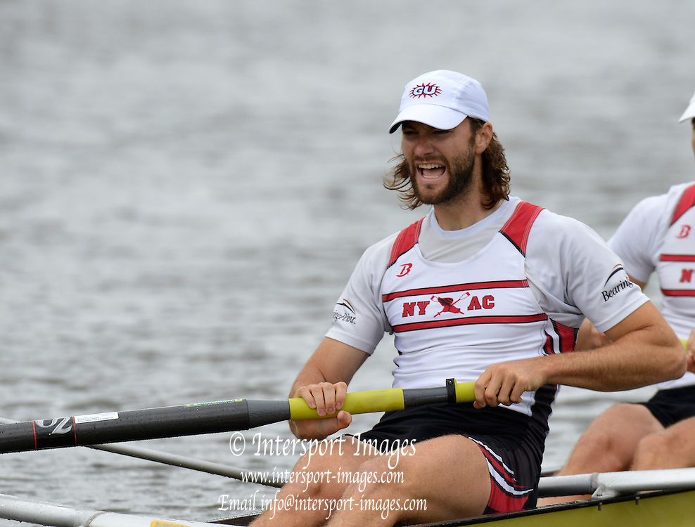 Henley, GREAT BRITAIN,  Silver Goblets and Nickalls' Challenge cup.  USA M2-, Stroke; Mike BLOMQUIST.  2012 Henley Royal Regatta. Friday  11:26:32  29/06/2012. [Mandatory Credit, Peter Spurrier/Intersport-images] ..Rowing Courses, Henley Reach, Henley, ENGLAND . HRR.