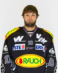 29.08.2012, Messestadion, Dornbirn, AUT, EBEL, Spielerportraits, Dornbirner Eishockey Club, im Bild Andrew Kozek, (Dornbirner Eishockey Club, #10)// during Dornbirner Eishockey Club Player Portrait Session at the Messestadion, Dornbirn, Austria on 2012/08/29, EXPA Pictures © 2012, PhotoCredit: EXPA/ Peter Rinderer