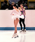 Nancy Kerrigan and Tanya Harding, 1994 Winter Olympics Lillehammer, Norway.