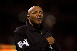SAN FRANCISCO, CA - APRIL 16:  MLB umpire CB Bucknor #54 looks on during the tenth inning between the San Francisco Giants and the Arizona Diamondbacks at AT&T Park on April 16, 2015 in San Francisco, California.  The Arizona Diamondbacks defeated the San Francisco Giants 7-6 in 12 innings. (Photo by Jason O. Watson/Getty Images) *** Local Caption *** CB Bucknor