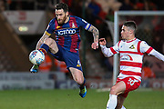 Bradford City midfielder Romain Vincelot controls the ball as Doncaster Rovers midfielder Tommy Rowe challenges during the EFL Sky Bet League 1 match between Doncaster Rovers and Bradford City at the Keepmoat Stadium, Doncaster, England on 19 March 2018. Picture by Aaron  Lupton.