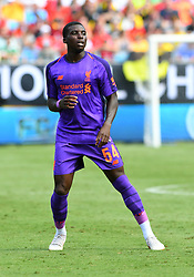 July 22, 2018 - Charlotte, NC, U.S. - CHARLOTTE, NC - JULY 22: Liverpool Sheyi Ojo (54) during an International Champions Cup match between LiverPool FC and Borussia Dortmund on July 22 2018 at Bank Of America Stadium in Charlotte,NC.(Photo by Dannie Walls/Icon Sportswire) (Credit Image: © Dannie Walls/Icon SMI via ZUMA Press)