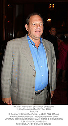 HARVEY WEINSTEIN of Mirimax at a party in London on 3rd September 2003.<br /> PMC 63