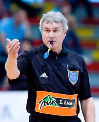Referee Dusan Andoljsek at handball match of MIK 1st Men league between RD Slovan and RK Gorenje Velenje, on May 16, 2009, in Arena Kodeljevo, Ljubljana, Slovenia. Gorenje won 27:26. (Photo by Vid Ponikvar / Sportida)
