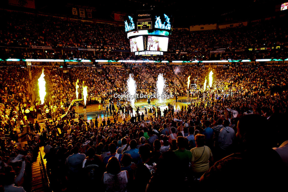 05 May 2008:  Pre-Game introductions of the NBA Playoff Semi-Finals Game 2, a 102-84 victory by the New Orleans Hornets that gave the team a 2-0 series lead over the defending NBA Champion San Antonio Spurs at the New Orleans Arena in New Orleans, LA.