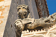 Stone carvings on the facade of the<br /> Cathedral of St Mark in Korcula Town<br /> Korcula, Croatia<br /> c. Ellen Rooney