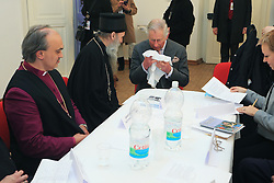 15.03.2016, Osijek, CRO, der Britische Kronprinz Charles und seine Frau Camilla besuchen Kroatien, im Bild HRH Prince of Wales visited the Archaeological Museum, where he met with representatives of religious communities from Osijek. EXPA Pictures © 2016, PhotoCredit: EXPA/ Pixsell/ Davor Javorovic<br /> <br /> *****ATTENTION - for AUT, SLO, SUI, SWE, ITA, FRA only*****