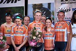 Third place for Boels Dolmans at Giro Rosa 2018 - Stage 1, a 15.5 km team time trial in Verbania, Italy on July 6, 2018. Photo by Sean Robinson/velofocus.com