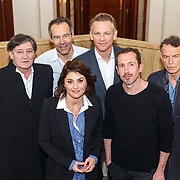 NLD/Amsterdam/20180111 - Photocall Bankier van het Verzet, Raymond Thiry, Fockeline Ouwerkerk, Barry Atsma, Jacob Derwig en regisseur Joram Lursen