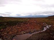 Icelandic interior landscape.