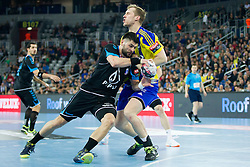 Tin Kontrec of PPD Zagreb during handball match between PPD Zagreb (CRO) and RK Celje Pivovarna Lasko (SLO) in 13th Round of Group Phase of EHF Champions League 2015/16, on February 27, 2016 in Arena Zagreb, Zagreb, Croatia. Photo by Urban Urbanc / Sportida