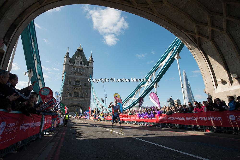 Richard Whitehead IPC<br /> The Virgin Money London Marathon 2014<br /> 13 April 2014<br /> Photo: David Levenson/Virgin Money London Marathon<br /> media@london-marathon.co.uk