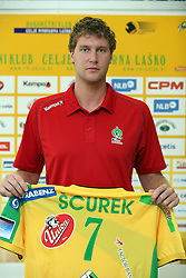 Luka Scurek at press conference of handball club RK Celje Pivovarna Lasko before new season 2008/2009, on September 2, 2008 in Celje, Slovenia. (Photo by Vid Ponikvar / Sportal Images)