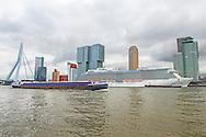 ROTTERDAM - Cruiseschip royal princess ligt aan de wilheminakade in Rotterdam . De Royal Princess is in 2013 feestelijk gedoopt door prinses Katherine van Engeland. Dit schip wordt gekenmerkd door innovatie en elegantieCOPYRIGHT ROBIN UTRECHT