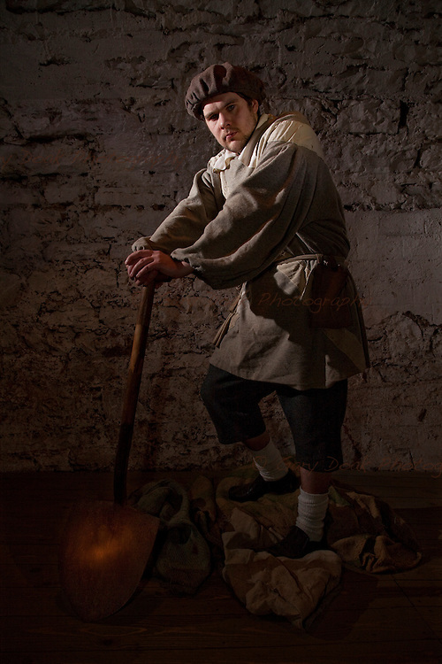 The Foul Clenger. A character study for The Real Mary King's Close, Edinburgh.