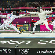 LONDON, Great Britain - Aug 11. Images from the Mens Olympic Modern Pentathlon Final at the Copper Box, Olympic Park in LONDON, on 11 August, 2012. Photo: Paul J Roberts / UIPM