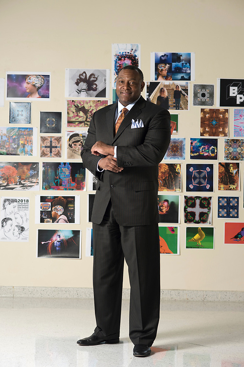 Dr. Anthony Hamlet - superintendent of Pittsburgh Public Schools - at CAPA in downtown Pittsburgh.