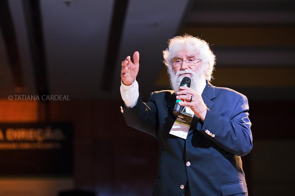 Leonardo Boff, talks during the Ethos International Conference, Sao Paulo, Brazil, 2010.
