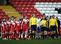Players and officials make their way onto the pitch at Ashton Gate - Photo mandatory by-line: Paul Knight/JMP - Mobile: 07966 386802 - 21/03/2015 - SPORT - Football - Bristol - Ashton Gate Stadium - Bristol Academy v FFC Frankfurt - UEFA Women's Champions League